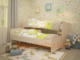 """Детская кровать """"Радуга"""" 1,9 без бортика на ламелях, без ящика"""