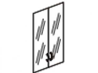 Двери стеклянные 3 секции 75х117 61.38/62.38