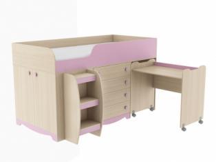 ИД 01.93 Кровать комбинированная Pink Сп.место 80х200