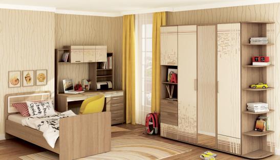 Мебель для молодежной комнаты Бриз