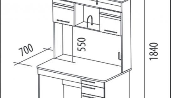 Стол компьютерный Бриз 54.15