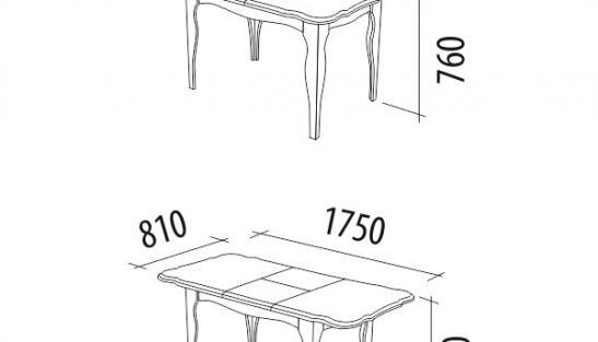 Стол обеденный Орфей 33.10 Премиум