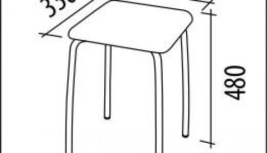 Табурет Олимп 2 Рувер баклажановый