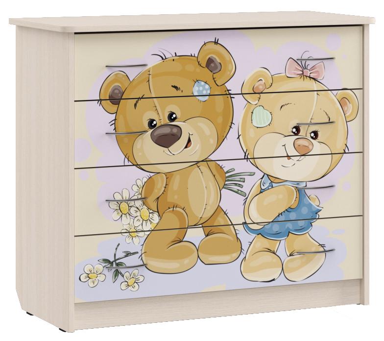 Комод для детской Мишки 800х940х420