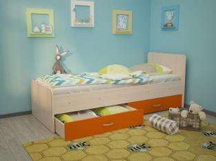 Кровать Антошка 1,90 с ящиками, ламели с бортиками