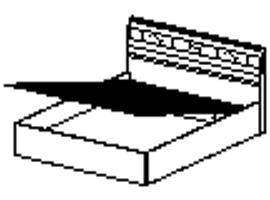 Кровать подъемным механизмом Спальное место 1600-2000 96.21.1