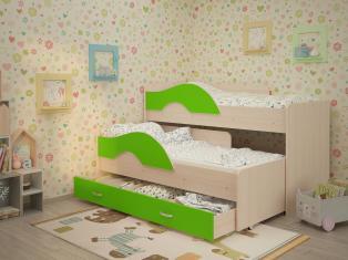 Кровать Радуга 1,6 с бортиками