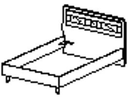 Кровать Спальное место 1200-2000 96.03.1