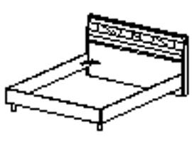 Кровать Спальное место 1600-2000 96.01