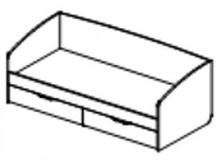 Кровать спальное место 900-2000 53.11