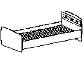 Кровать Спальное место 900-2000 96.04