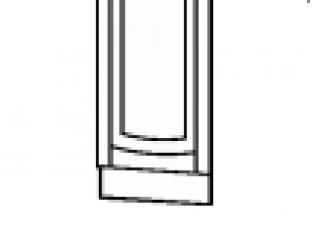 Панель для посудомоечной машины на 450 (без столешницы) 45х82  03.70