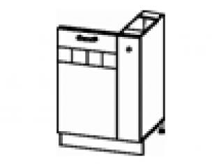 Панель для посудомоечной машины на 450 с бутылочницей на 150 (без столешницы) 60х47х82 10.68