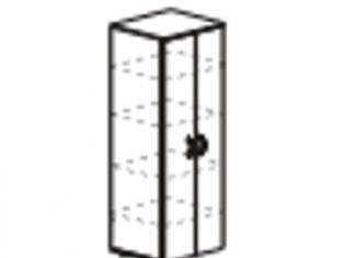 Шкаф 5 секций узкий с замком  55х39х200 61.50/62.50