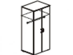 Шкаф для одежды большой  с замком 76х55х200 61.42/62.42