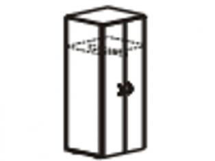 Шкаф для одежды малый   с замком 55х39х200 61.43/62.43
