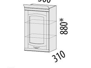 Шкаф кухонный (лев/прав) Глория 06.10