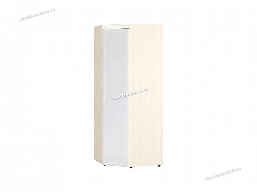 Шкаф угловой с зеркалом (лев/прав) Тиффани 93.09 890х890х2250