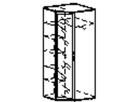 Шкаф угловой универсальный 96.09
