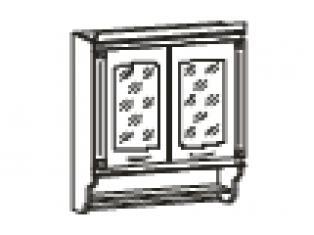Шкаф-витрина с колоннами 80х31х107  03.11
