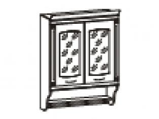 Шкаф-витрина с колоннами 80х31х107  06.11