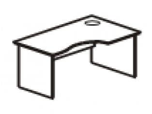 Стол эргономичный правый 150х90/70/50х75 41.45/42.45