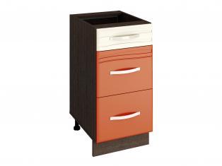 Стол кухонный (3 ящика с системой плавного закрывания) 400x530x820 09.90