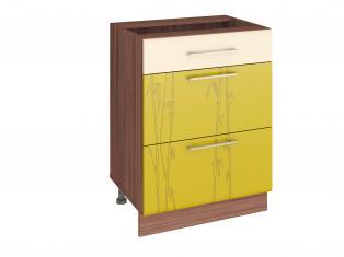 Стол кухонный (3 ящика с системой плавного закрывания) 60х53х82 17.91