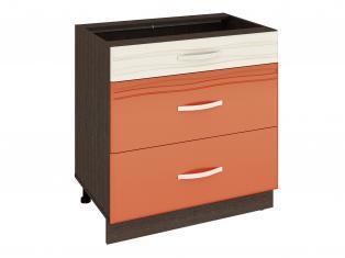 Стол кухонный (3 ящика с системой плавного закрывания) 800x530x820 09.92