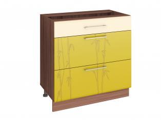Стол кухонный (3 ящика с системой плавного закрывания) 80х53х82 17.92