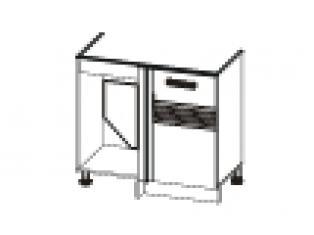 Стол под мойку угловой универсальный (без столешницы) 100х53х82 16.52