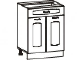 Стол с 1 ящиком (без столешницы) 60х47х82  03.58.2