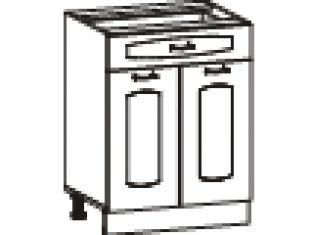 Стол с 1 ящиком (без столешницы) 60х47х82  06.58.2