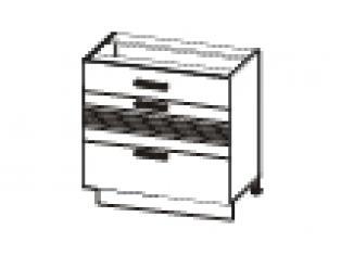 Стол с 3 ящиками (без столешницы) 80х53х82 16.67