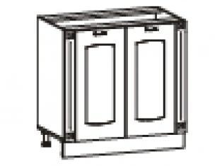 Стол с колоннами (без столешницы) 80х47х82  03.62.1