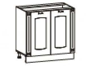 Стол с колоннами (без столешницы) 80х47х82  06.62.1