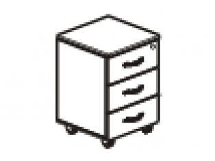 Тумба 3 ящика с замком 40х45х54 41.61/42.61