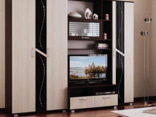 Вега 2 Центральная секция 1200х2152х600 размер ниши ТВ 1160х690